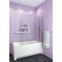 Душевое ограждение на ванну JY141 120х130, рифленое стекло EVA-GOLD