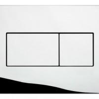 Панель пневм. двойная KARISMA, пласт. хром глянец Oliveira