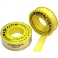Лента ФУМ 12мм0,1мм 12м PF533 желтая